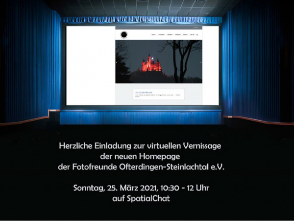 Vernissage unserer Homepage